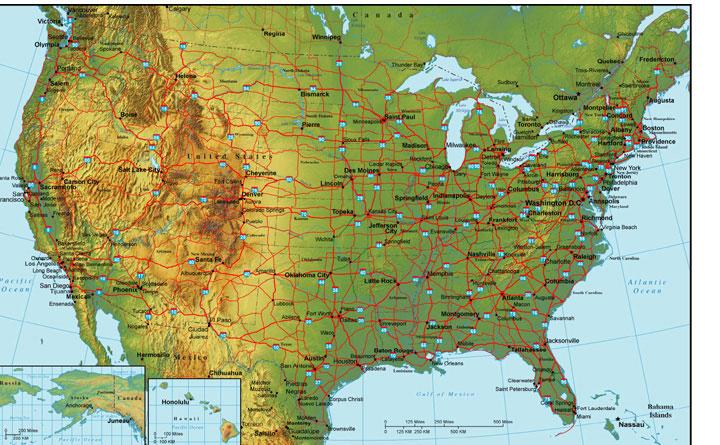 USA Map - Arkansas in usa map