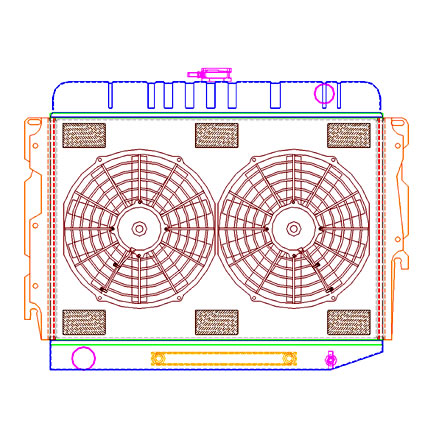 Radiator CU-70004 Drawing View