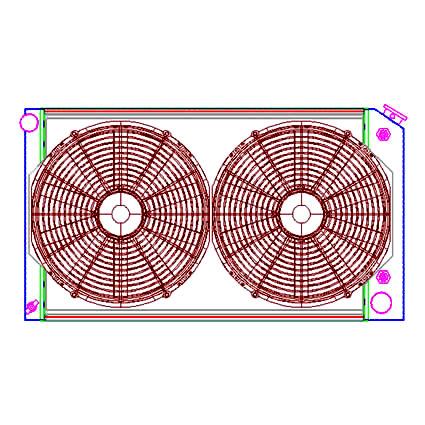 Radiator CU-70008 Drawing View