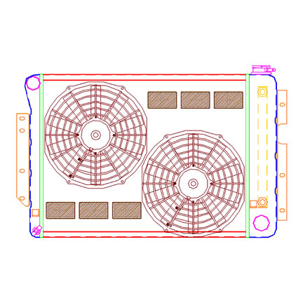 Radiator CU-70048 Drawing View