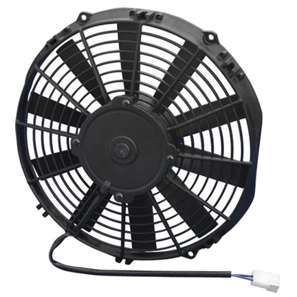 Spal Electric High Performance Puller Fan 11.00 inch Diameter, 970 True CFM / 2.48 inch Total Thickness / Medium Straight Blade Puller