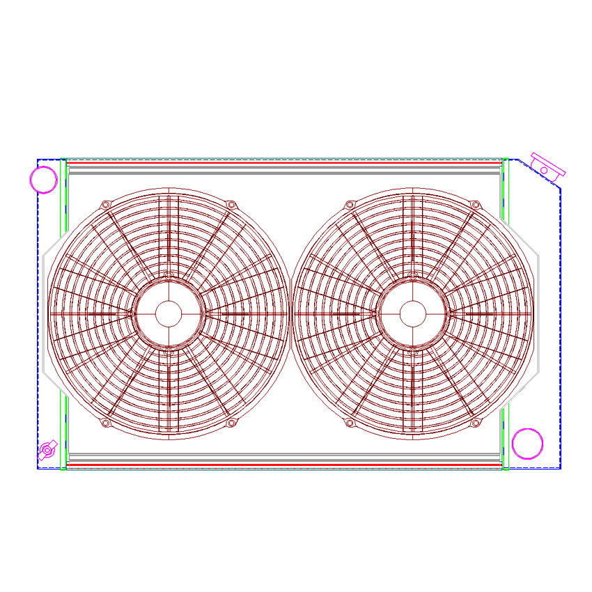 Radiator CU-00010 Drawing View