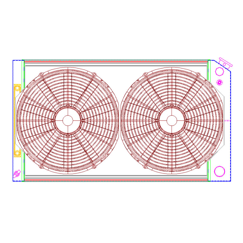 Radiator CU-70008-LS Drawing View