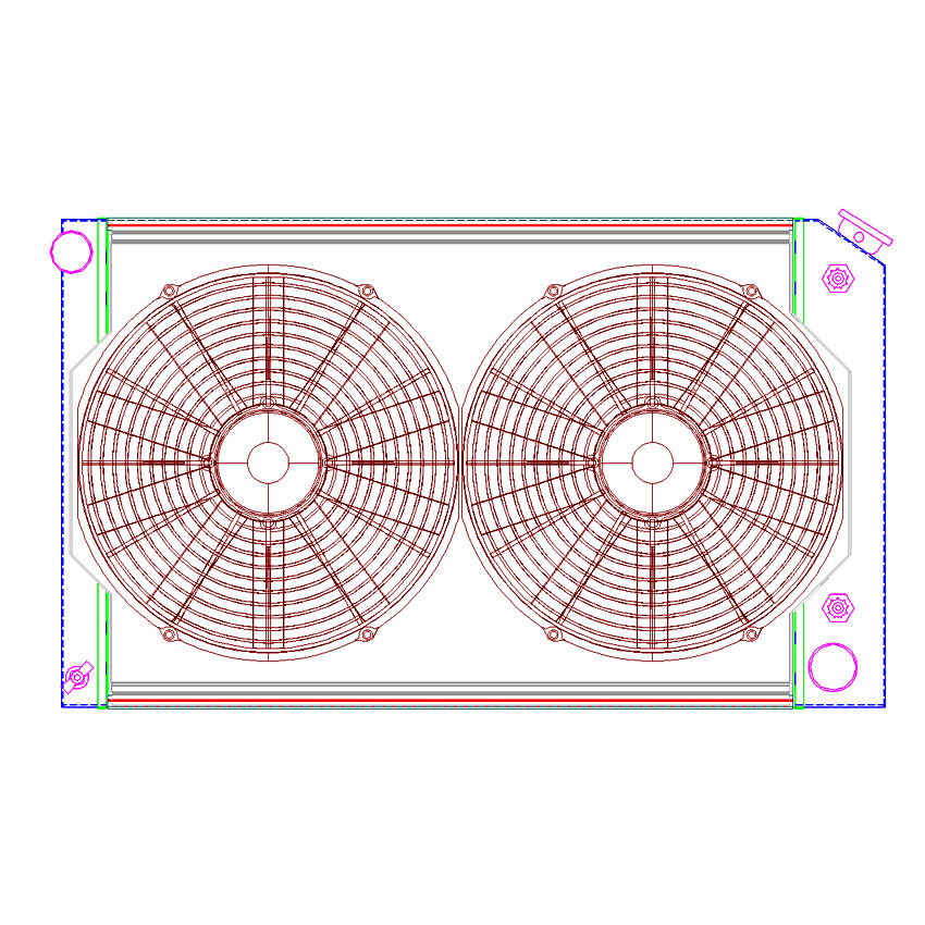 Radiator CU-70010 Drawing View