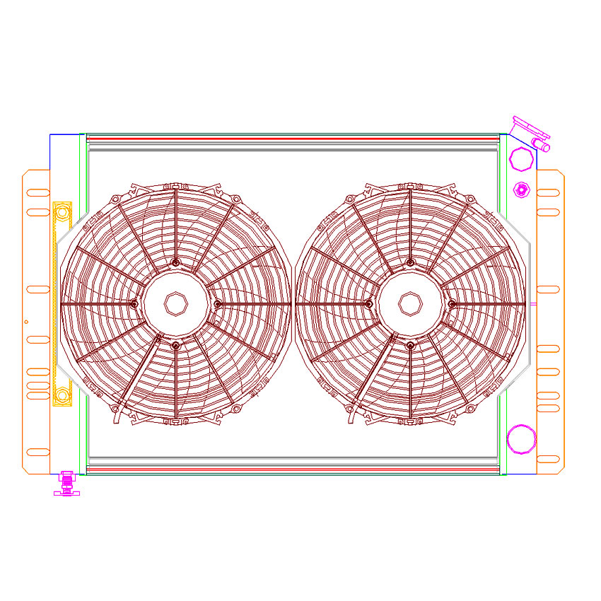 Radiator CU-70038-LS Drawing View