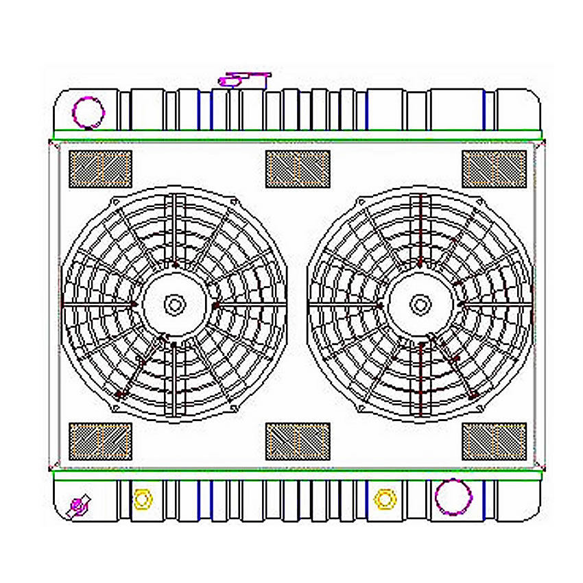 Radiator CU-70060 Drawing View