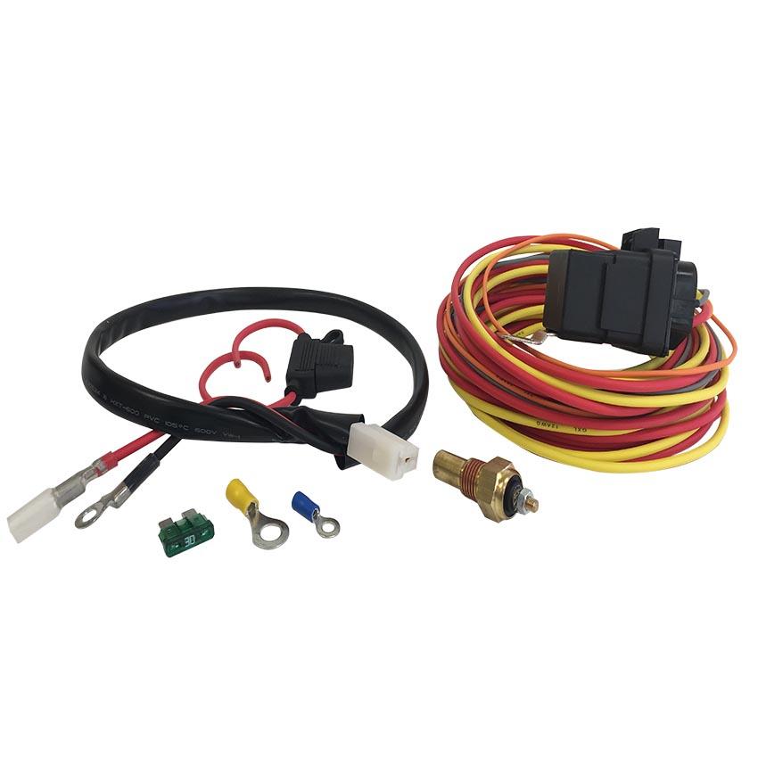 Electric Fan Wiring Harness / Includes: 185 Deg. Temperature Sensor, on
