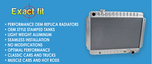 Visit ExactFit Radiators - Performance OEM replica radiator, seamless installation with no modifications and optimal performance